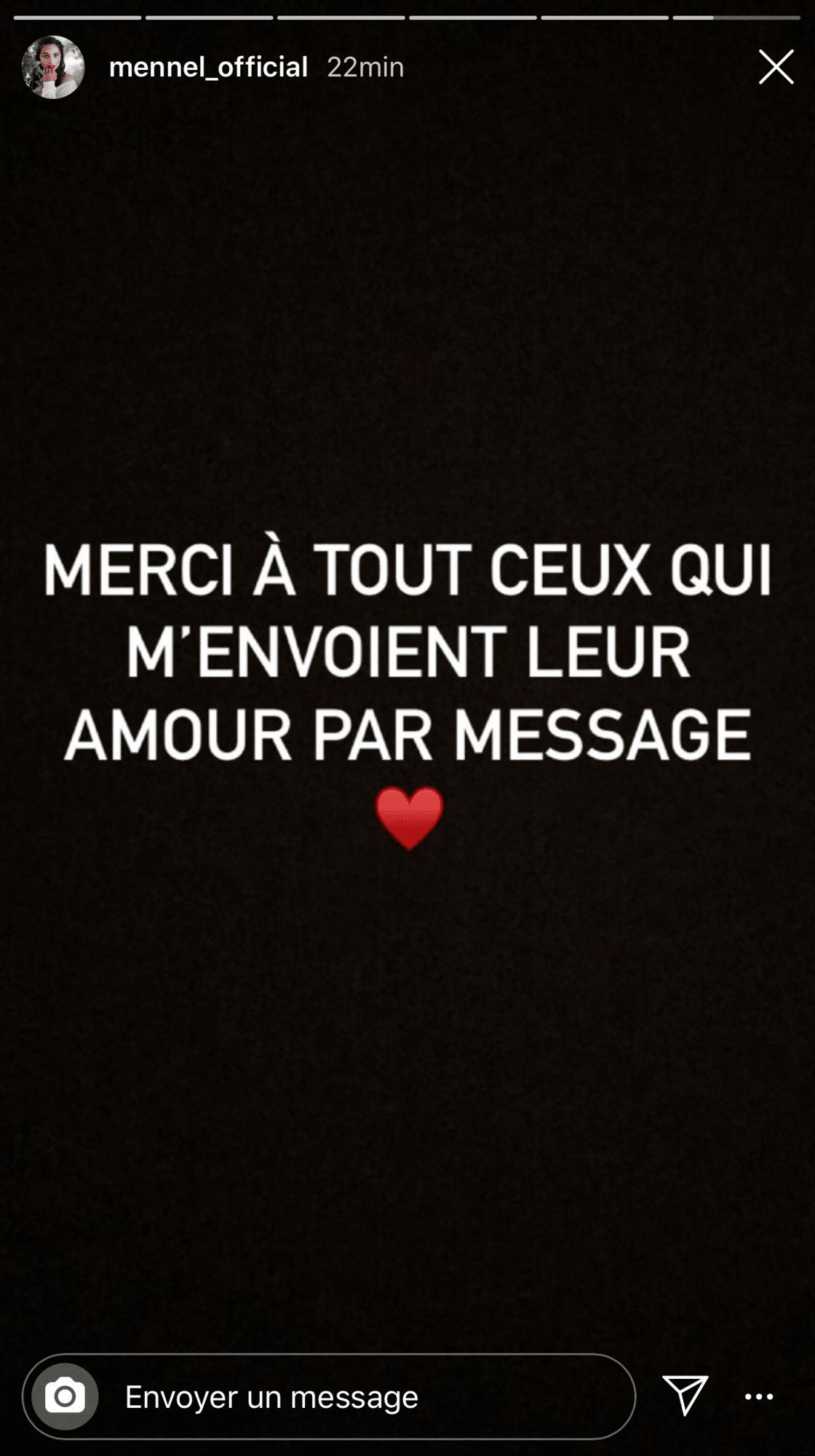 remerciement Mennel Ibtissem instagram