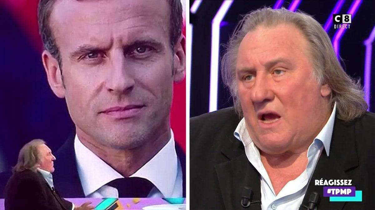 Gérard Depardieu balance un scoop énorme sur Emmanuel Macron dans TPMP !