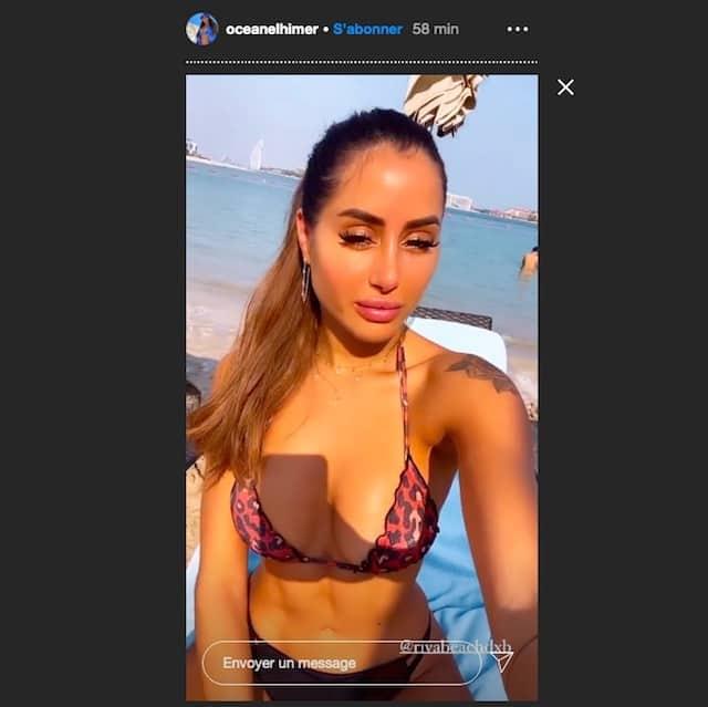 oceane-el-himer-instagram-story-maillot-de-bain-bikini-depareille-dubai